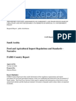 Saudi Arabia Food and Agricultural Import Regulations and Standards - Narrative Riyadh Saudi Arabia 12-27-2011