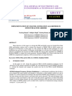 Implementation of Channel Estimation Algorithms in Ofdm for 64 Subcarriers