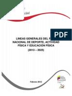 Lineas Del Plan Nac de Dep Documento 08-02-2012