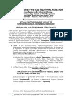CSIR - Application