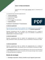 SISTEMAS ORGANIZACIONALES Y SISTEMAS DE INFORMACIÓN