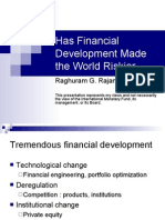 Raghuram Rajan - Fin Devt and Risk - PPT