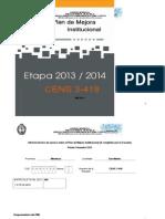 Plan de Mejora Etapa 2013-2014