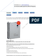 Enhanced V/F Control Universal Variable Speed Drive (VSD, frequency inverter)