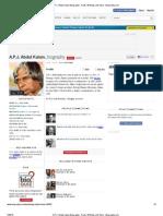 A.P.J. Abdul Kalam Biography - Facts, Birthday, Life Story - Biography