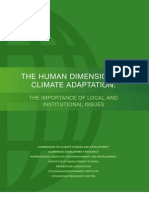 Human Dimensions Climate Adaptation