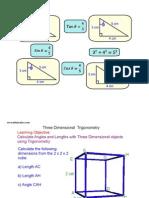 3D Trig Worksheet