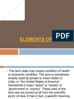d. Elements of State