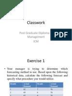 Classwork - Forecast