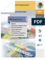 PROGRAMA Matematicas Acuerdo 653 2012