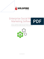 Wildfire Report - Enterprise Social Media Marketing Software Evaluation and Selection Guide