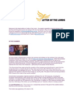 Letter of the Lords - July 26, 2013