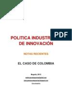POLITICA INDUSTRIAL Y DE INNOVACIÓN EN COLOMBIA. ARTICULOS BREVES