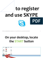 How to register and use Skype