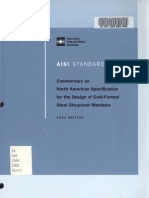 Commentary on North American Specification for the Design of Cold-Formed Steel Structural Members, 2001 Ed
