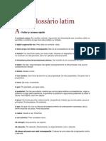 Glossário latim PDF