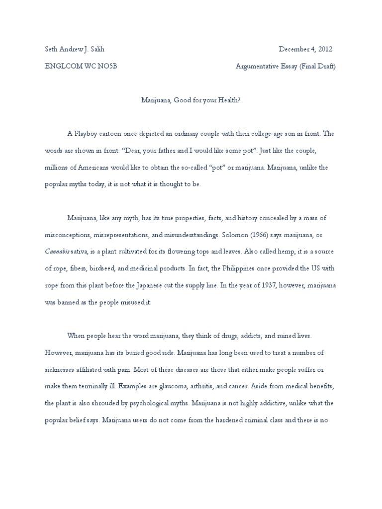 legalization of marijuana persuasive essay