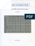 The Minimum You Need to Know to Be an OpenVMS Application Developer