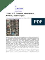 Araceli Soní Soto-Teoría de la recepción. Fundamentos teóricos y metodológicos