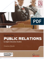 Marie McLisky - English for Public Relations in Higher Academic Studies - 2011