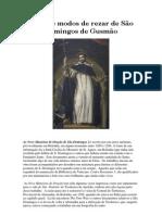 OS 9 MODOS DE REZAR DE SÃ DOMINGOS DE GUSMÃO