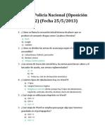 Examen CNP (Oposición 2012 realizado el 25-5-2013)