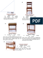 Spesifikasi WH Furniture (62 Item) (2008)