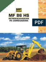 Catalago Retro Escavadeira MF 86H