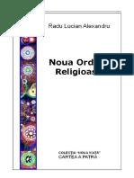 Noua Ordine Religioasa - Radu Lucian Alexandru