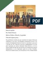 Bolivar, Politico, Filosof0 y Legislador.