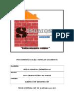 Procedimiento Para El Control de Documentos