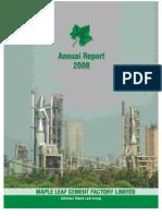 Maple leaf Annual Report 2008