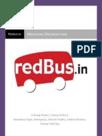 Managing Organizations Redbus Report
