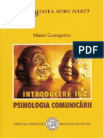 Matei Georgescu - Introducere in Psihologia Comunicarii