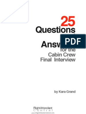 25 Questions and Answers Cabin Crew Final Interview | Flight