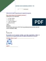 Quiz 1 Grammar and Vocabulary