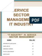 Service Sector Management Presentation on IT Industry