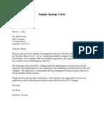 Sample Apology Letter 1