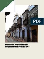 Monumentos recordatorios de la Independencia del Perú 1821-2013