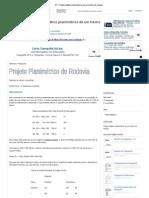 01 - Projeto didático planimétrico de um trecho de rodovia