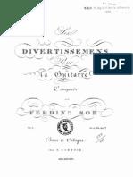 Fernando Sor - Divertissements, Op.1 Text