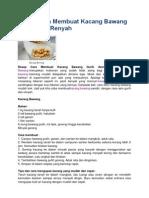 Resep Cara Membuat Kacang Bawang Gurih Asin Renyah