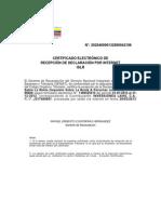 Certificado de Declaracion de Islr 2012-Listo