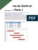Diagrama de Gantt en Excel