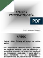 Apego y Psicopatología Ps. Alejandra Gottlieb