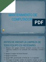 .MANTENIMIENTO PREVENTIVO DE UNA PC.