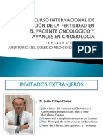 CURSO INTERNACIONAL DE PRESERVACIÓN DE LA FERTILIDAD