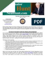July Legislative Newsletter from Senator Neal Hunt