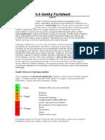 H2S Safety Factsheet