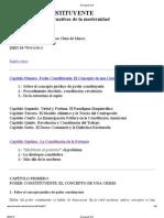 Negri, Antonio. El poder constituyente. Ensayo sobre las alternativas de la modernidad. Barcelona, Libertarias – Prodhufi, 1994, Cap. 7. La constitución de la potencia, págs. 369 – 408.